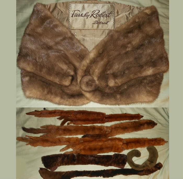 Fur Wrap by Furs by Robert of Detroit and lots of  critter wraps