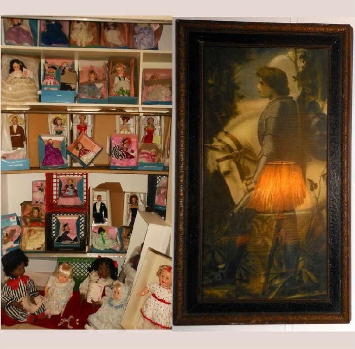 Lots of Madam Alexander Dolls and Old Print