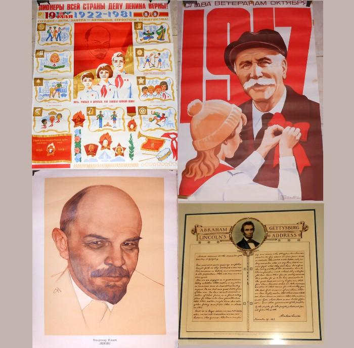 Russian Posters and Abraham Lincoln's Gettysburg Address