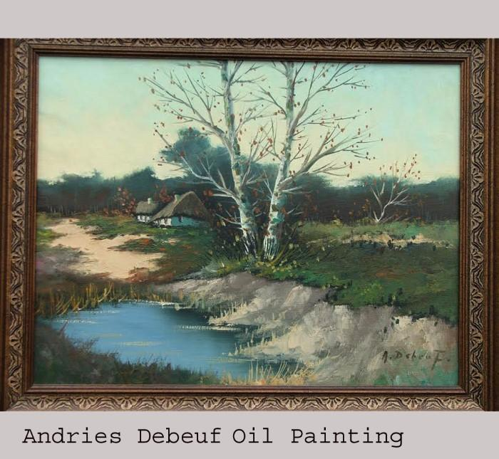 Beautiful and Stunning Andries Debeuf Oil Painting