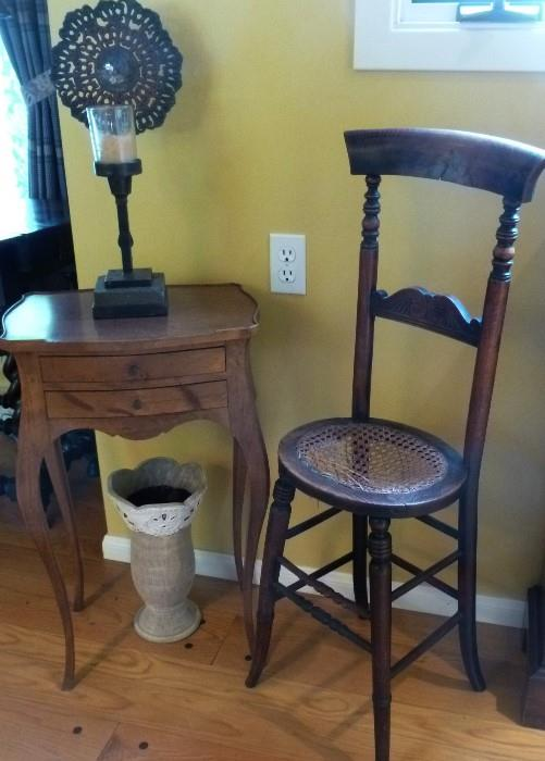 19th century Belgian lace makers chair.