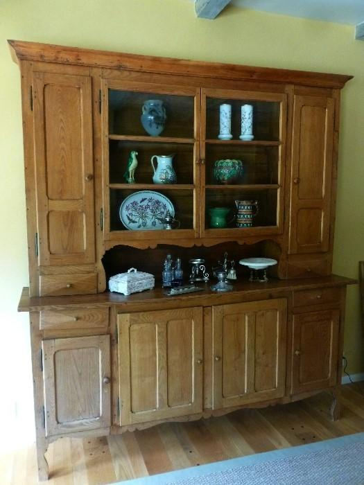 19th Century French Buffet Deux Corps in oak