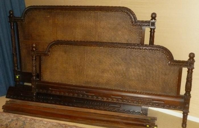 French Louis 16 style King Size caned Bed