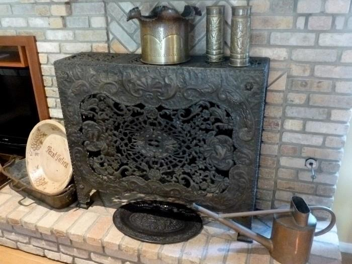 Cast iron and repousse copper Radiator Cover!