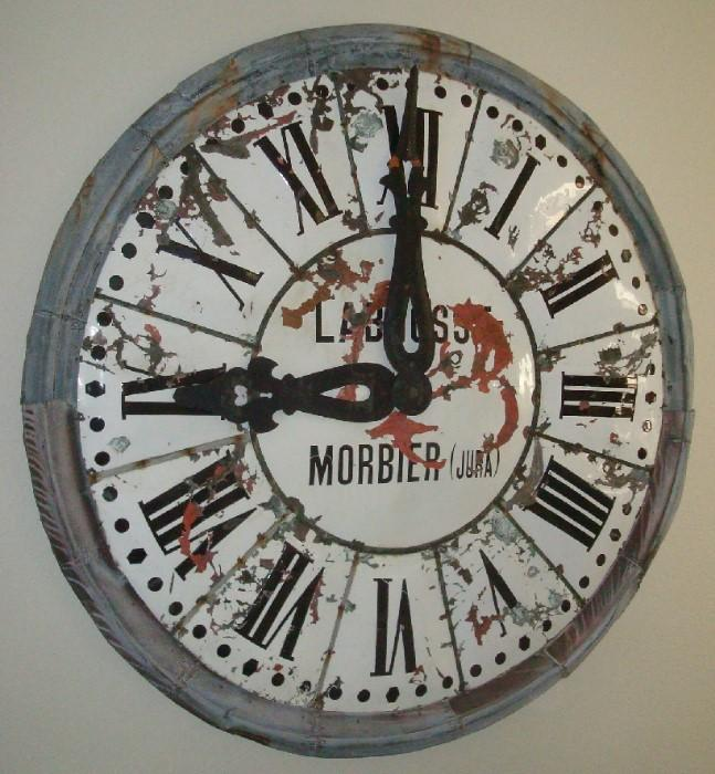 6' rustic French Morbier clock face