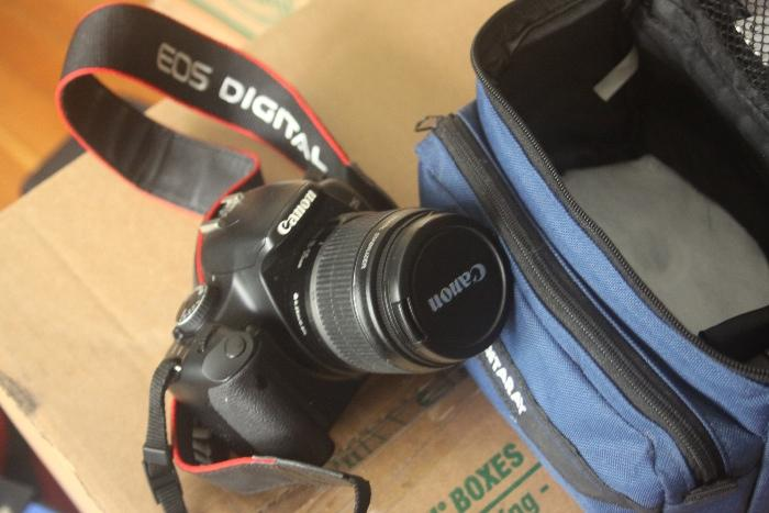 Canon EOS Rebel Digital SLR XSi with bag and attachments
