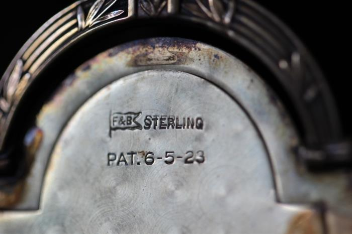 Sterling silver and patent mark, 1923