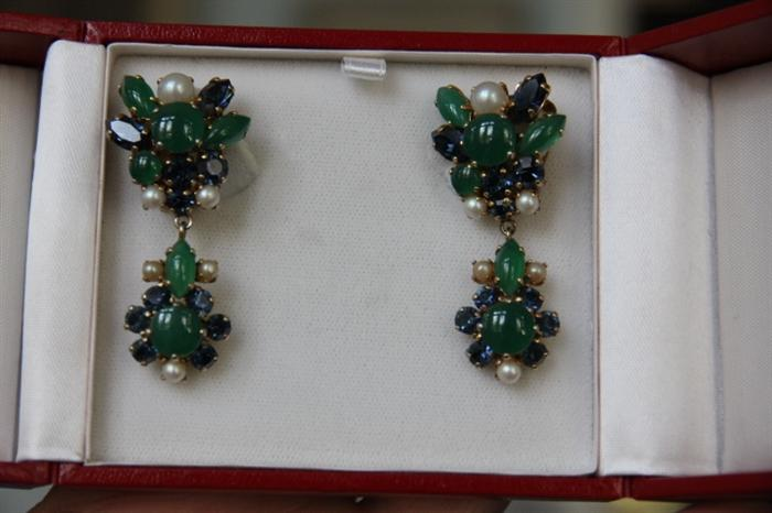 Fabulous, mint condition, vintage 1960s Christian Dior earrings