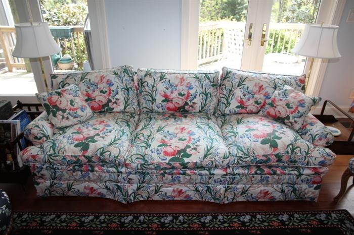 Colefax and Fowler down-filled sofa