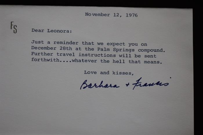 Note from Sinatra