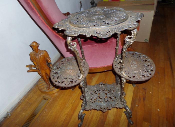 fancy victorian metal table