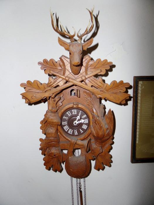 walnut coo coo clock