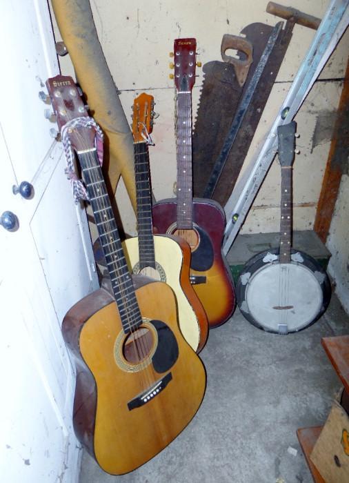 guitars and banjo