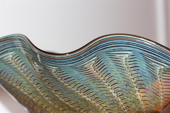 several pieces of art glass from Read, who studied under and worked for Dale Chilhuly for many years