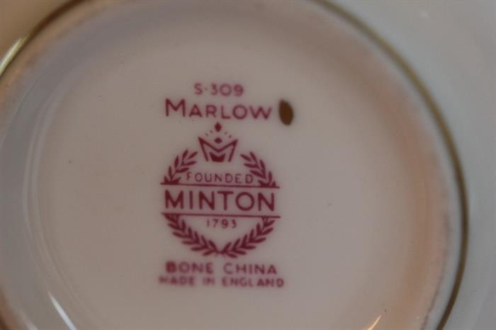 set of Minton Marllow china