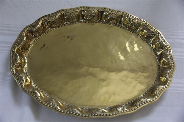 Arts and crafts German hammered tray
