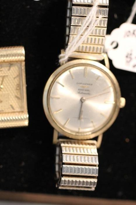 Longines men's watch, vintage, 14k