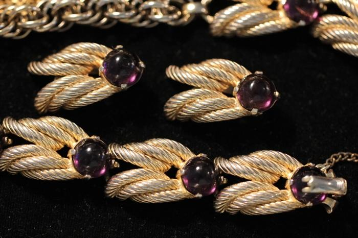Schiaparelli necklace and earring set