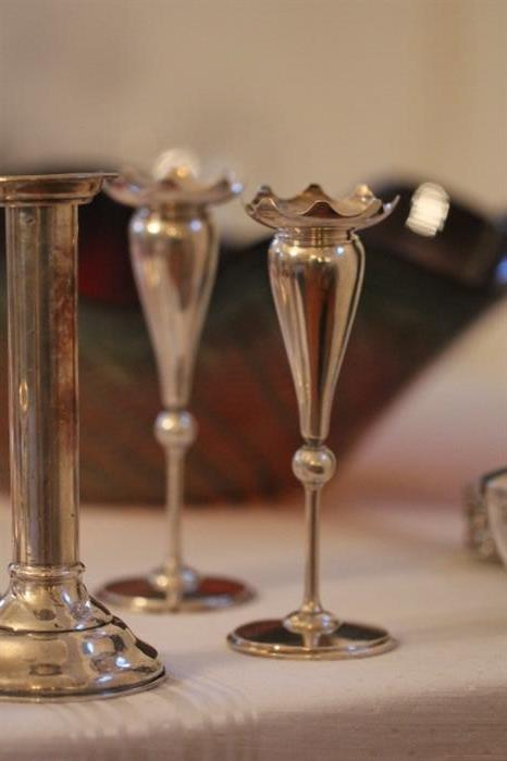 pair of Gorham sterling bud vases, late 19th C.