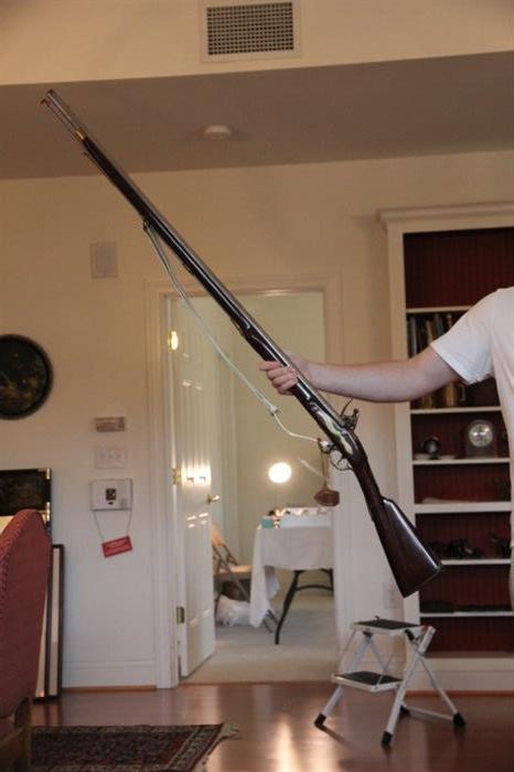 Revolutionary War reenactor's flintlock rifle