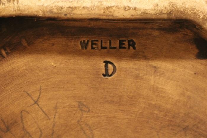 mark on underside of Weller umbrella stand