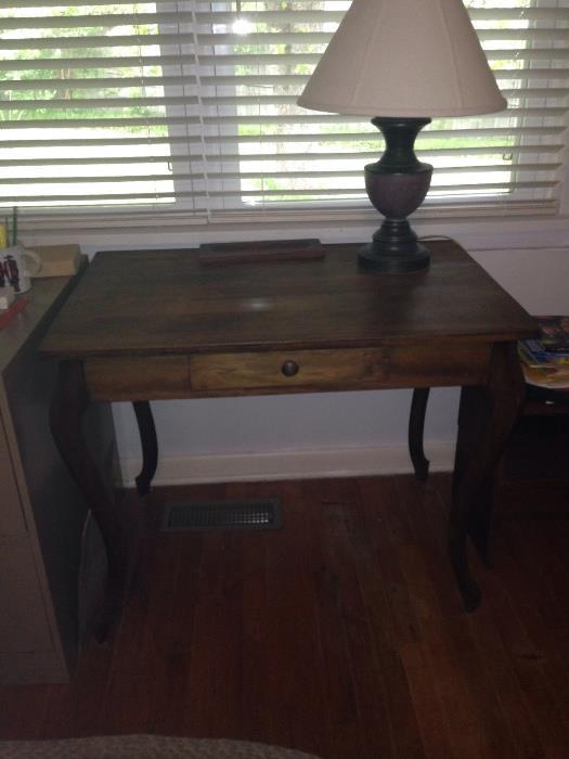 vintage desk with nice bowed legs