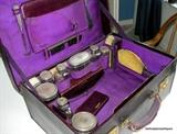 Mappin & Webb Sterling silver and crystal travel case