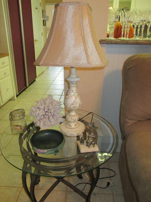 Freesia Roseville Pottery, Pretty Coral Branch