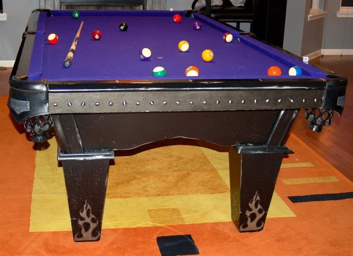 Legacy billiards Renegade Outlaw pool table with custom purple felt!!!