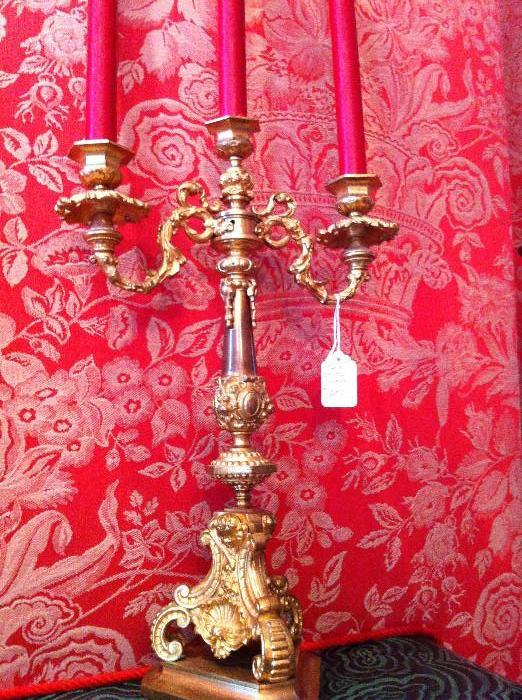1 of several ornate candelabras