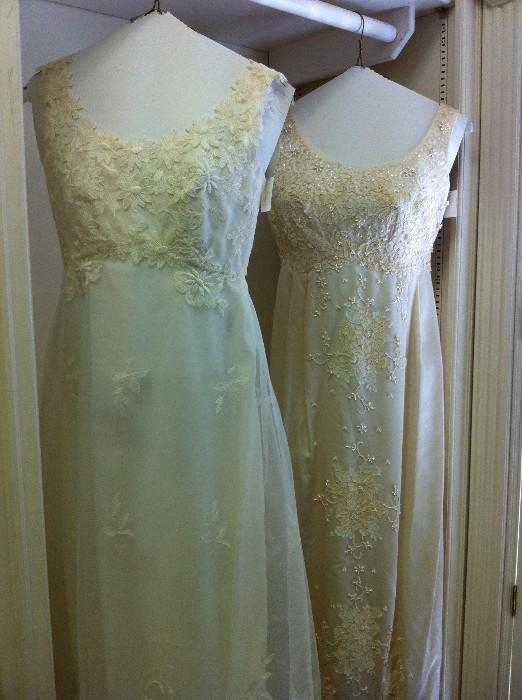 2 wedding dresses
