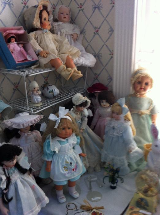 great selection of dolls