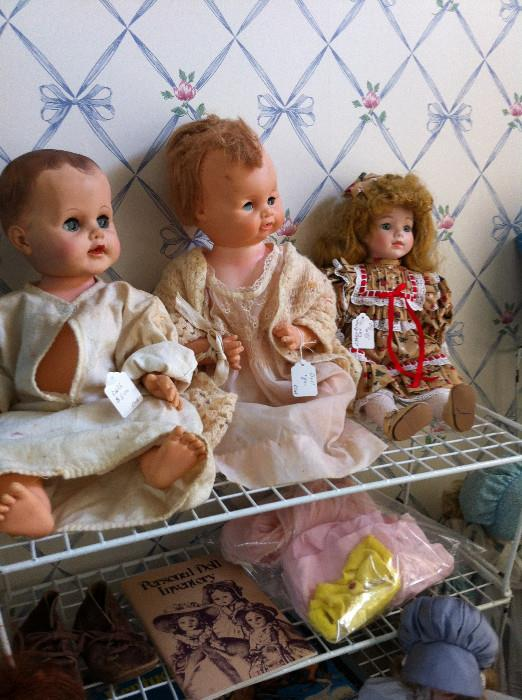 great selection of dolls & other vintage toys