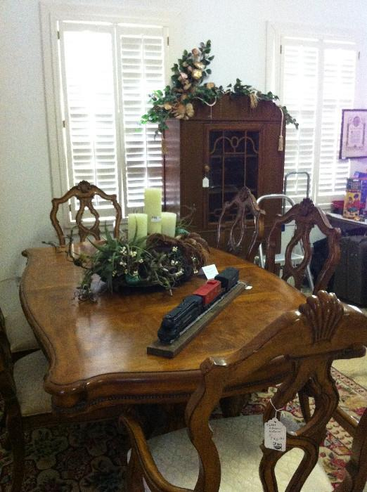 another extra nice dining table with 6 chairs