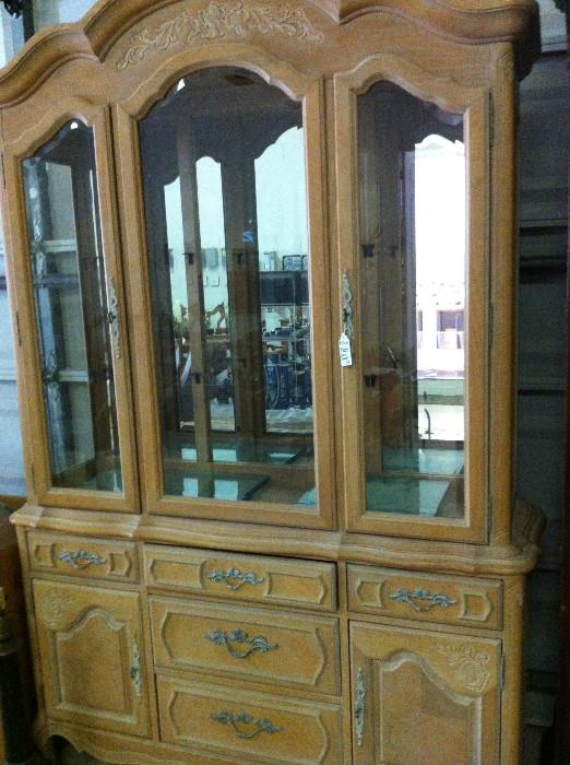 large carved display cabinet