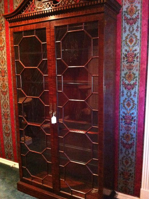 smaller Chippendale display cabinet