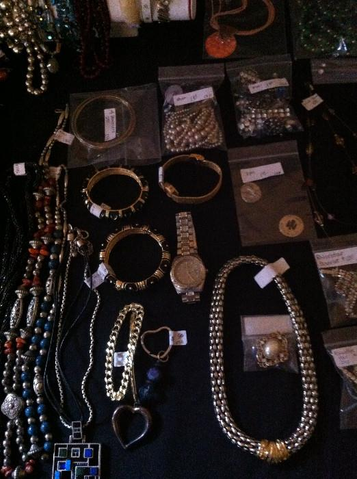 wide assortment of costume jewelry