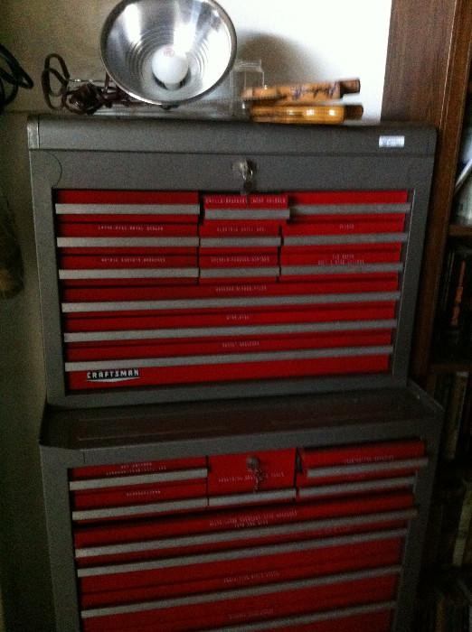 Craftsman tool cabinet and many hand tools