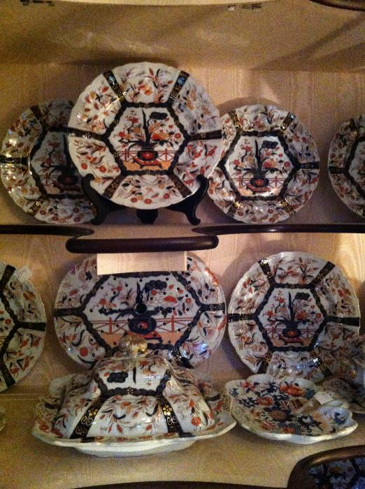 1800's Mason ironstone including Imari tureens