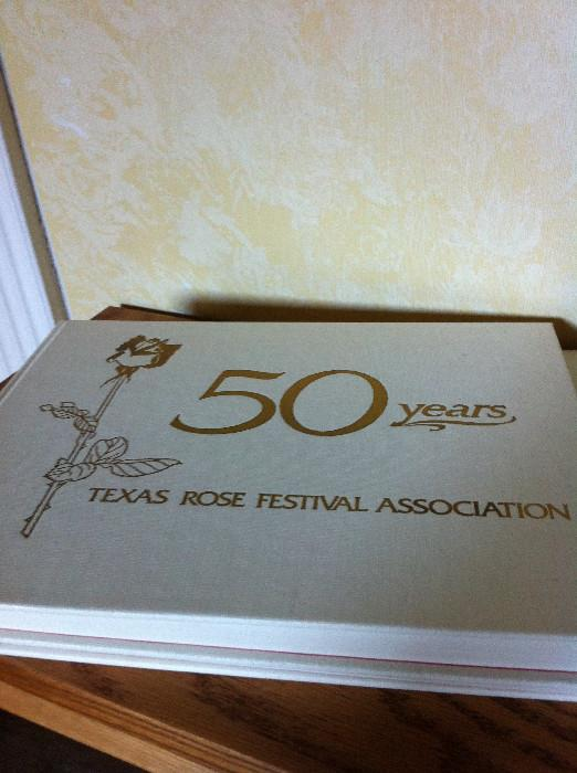"2 copies of ""50 Years, Texas Rose Festival Association"""