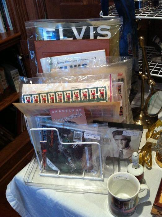 Elvis Presley memorabilia including Elvis stamps
