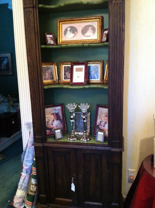 book/display case; more frames