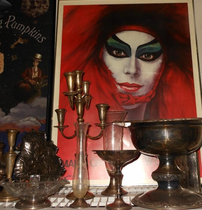 Wonderful Mardi Gras Poster and just a few of the numerous pieces of Sterling Silver