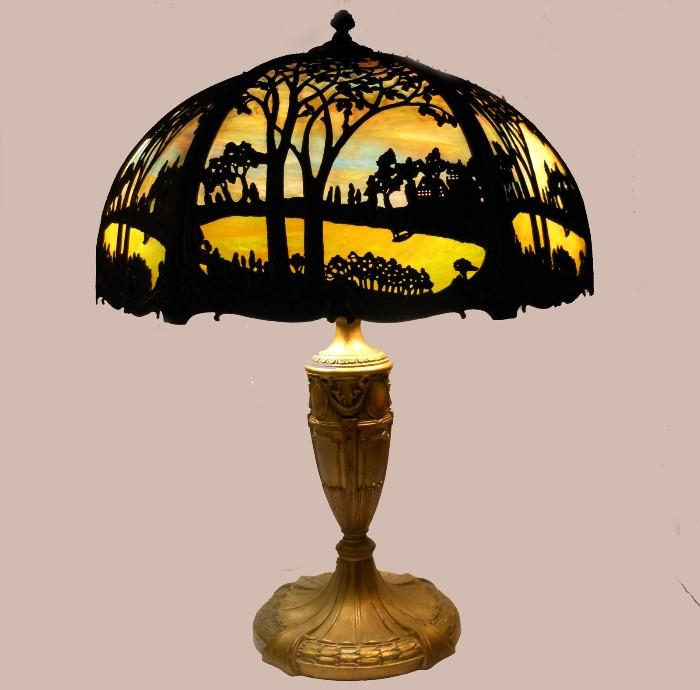 Stupendous Royal Art Glass Lamp in perfect working condition; Lit