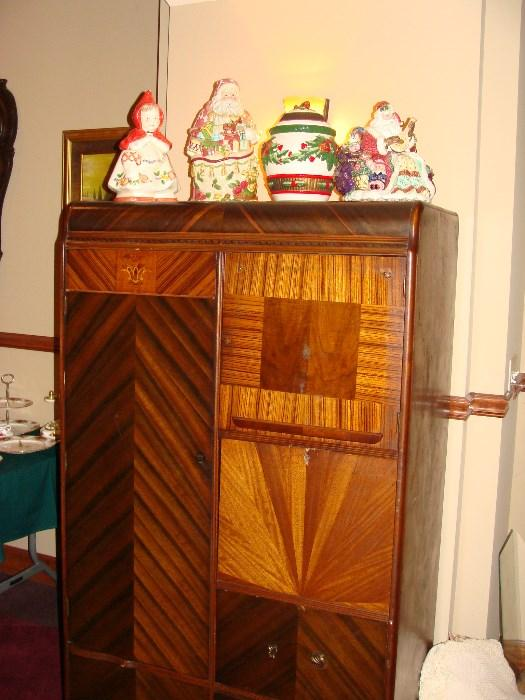 Gorgeous antique Waterfall Dresser/Wardrobe cabinet