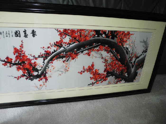 Stunning all silk needlework art piece!!