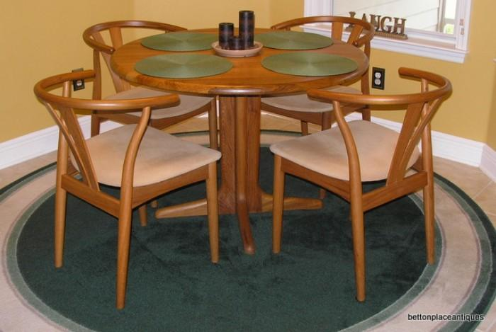 Danish Farso Stolefabrik Teak Dining Table/4 chairs