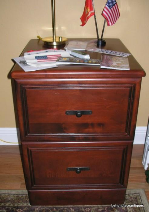 Two drawer mahogany File Cabinet