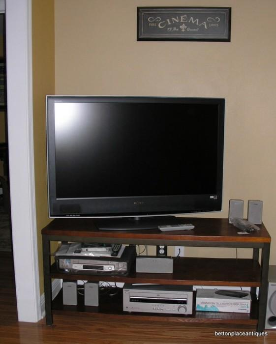46 inch Sony Flatscreen TV, Sony Stereo and Equip