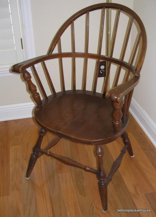 One of Two Matching Windsor Chairs Oak